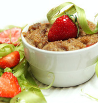 Compote-crumble fraise rhubarbe