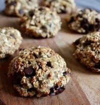 Cookies 3 ingrédients : flocons d'avoine, banane et chocolat noir