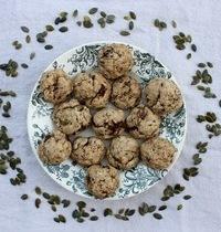 Cookies au tahini, graines de courge et pépites de chocolat - Vegan