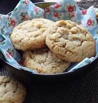 Cookies coco, chocolat blanc