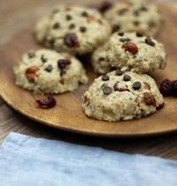 Cookies crus aux fruits secs