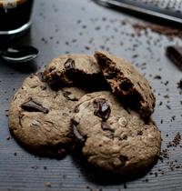 Cookies pâte choco-noisette, amandes, chocolat noir et fleur de sel
