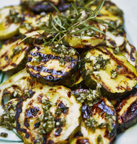 Rosemary pesto grilled zucchini