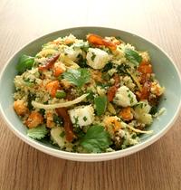 Couscous en salade, féta et fruits secs