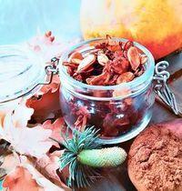 Crackers aux graines de courge et cannelle