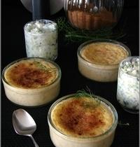 Crèmes Brûlées au Saumon & Verrines Fraîcheur au Raifort