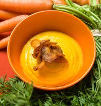 Crémeux et chips de carotte