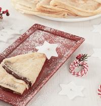 Crêpes de Noël au Nutella