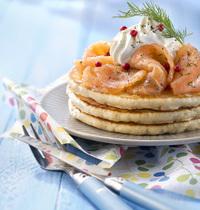 Crêpes salées au saumon sans lactose