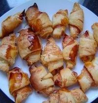 Hot ham and cheese croissants