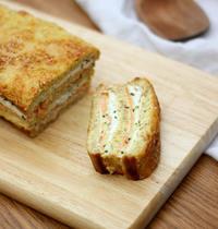 Croque-cake au saumon