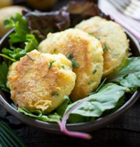 Potato with Saint Nectarine cheese croquettes