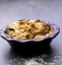 Crumble de courgettes au jambon cru et au fromage frais