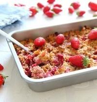 Crumble revisité aux fraises