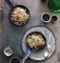 Tomato & zucchini crumble