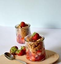 Crumble vegan aux fraises
