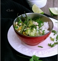 Curry de Haricots Verts au Maïs