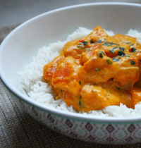 Quick kuri pumpkin curry with coconut cream