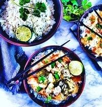 Curry jaune Thaï au saumon