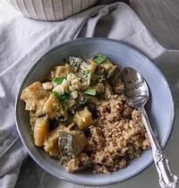 Curry vegan aubergine