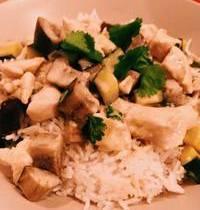 Curry vert de poulet & légumes