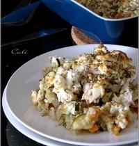 Escalopes de Dinde au Quinoa, Légumes & Feta (cuisson au four)