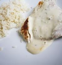 Turkey scaloppine with Boursin cream cheese sauce