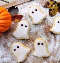 Fantômes sablés d'halloween gingembre courge