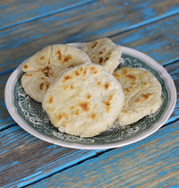 Faux naan au fromage