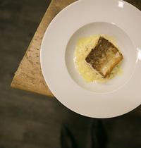 "Fera fillet, celery risotto with """"Vin Jaune"""" & Comté cheese"