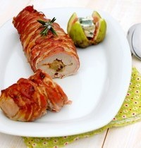 Fillet mignon de porc farci au Roquefort Société et figues fraîches