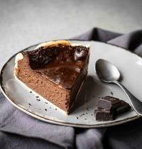 Flan crémeux au chocolat noir