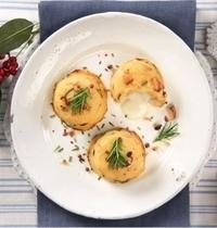 Flans aux pommes de terre et champignons, cœur de mozzarella Galbani