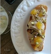 Foie Gras, Confiture d'Orange Amère Intense & Eclats de Pistaches
