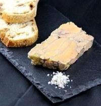 Foie gras marbré au vin rouge et aux épices