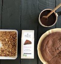 Fondant nappé au chocolat et fruits secs