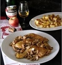 Fricassée de Volaille au Cidre, Pommes de Terre Rôties & Pomme Fruit
