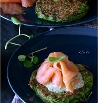 Galettes de Pommes de Terre au Cresson, Saumon Fumé & Sauce au Cresson