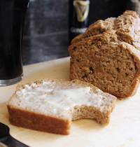 Stout beer bread with honey butter