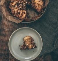 Gâteau d'automne pommes et noisettes