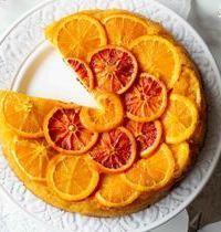 Gâteau renversé à la polenta & aux oranges