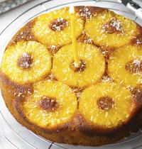 Gâteau renversé ananas & coco (upside-down cake)
