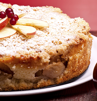Apple and orange blossom cake (lactose-free)
