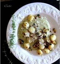 Gnocchi Di Patate à la Crème de Courgette & Chèvre Frais