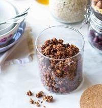 Granola maison, chocolat & cranberries