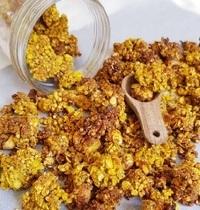 Granola protéiné et sans huile au curcuma