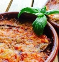 Eggplant, tomato and basil bake