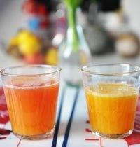 Fresh orange juice and citrus cocktail