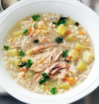 Krupnik, soupe à l'orge perlé