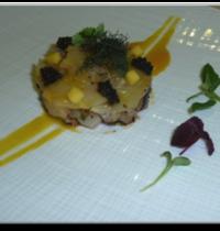 La Daurade Royale façon tartare,  marinée à la mangue et shiso